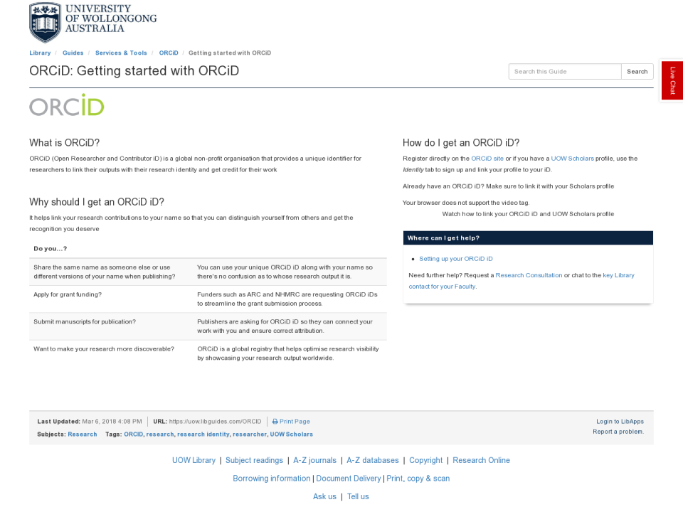 ORCiD - connecting research and researchers